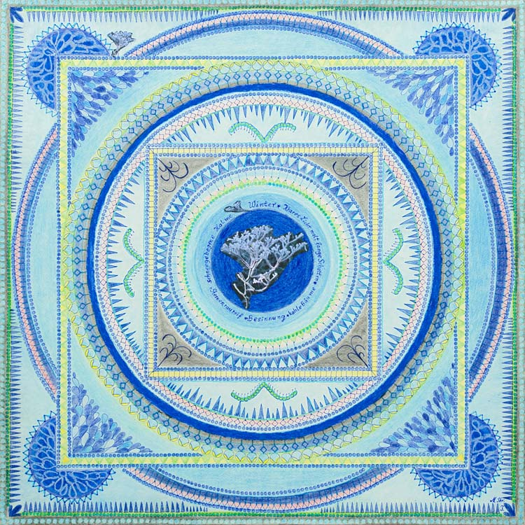 Wintermandala - Marlies Strübbe-Tewes